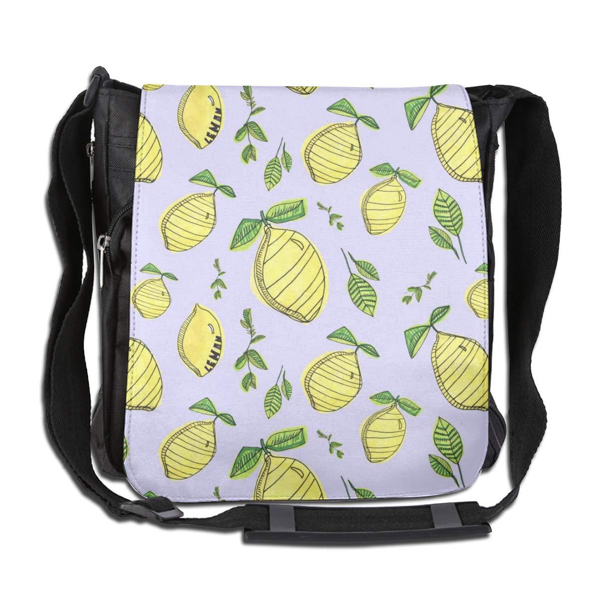 Lemon Fashion Diagonal Single Shoulder Workout Bag