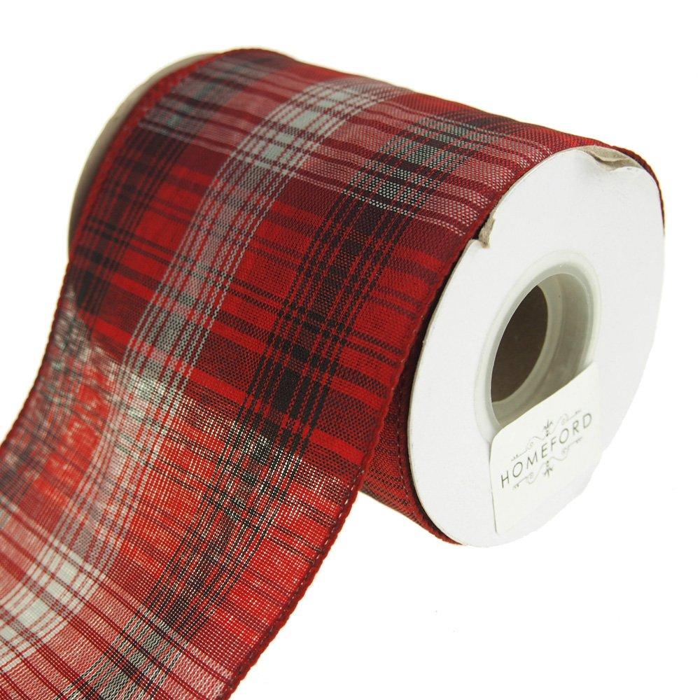 Homeford FRR092918W93710F Ribbon, 4'', Red
