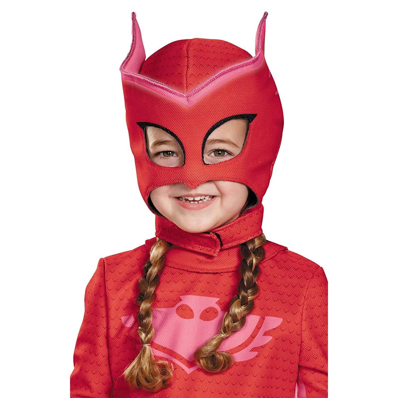 Disguise Girl's PJ Superhero Owlette Deluxe Mask Child Halloween Costume Accessory