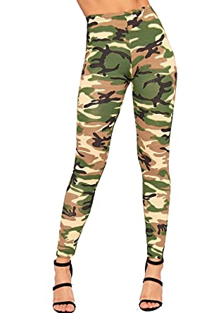 c03499a89159a WearAll Womens Camouflage Leggings Full Length Long Army Ladies Print Ankle  Sizes 8-14: Amazon.co.uk: Clothing