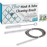 CPAP-Maske und Reinigungsbürste von RespLabs Medical | Passend für die meisten Standard-22mm-Stulpe, Universal 19mm Innendurchmesser BiPAP Schlauch | Die beste CPAP Rohrbürste