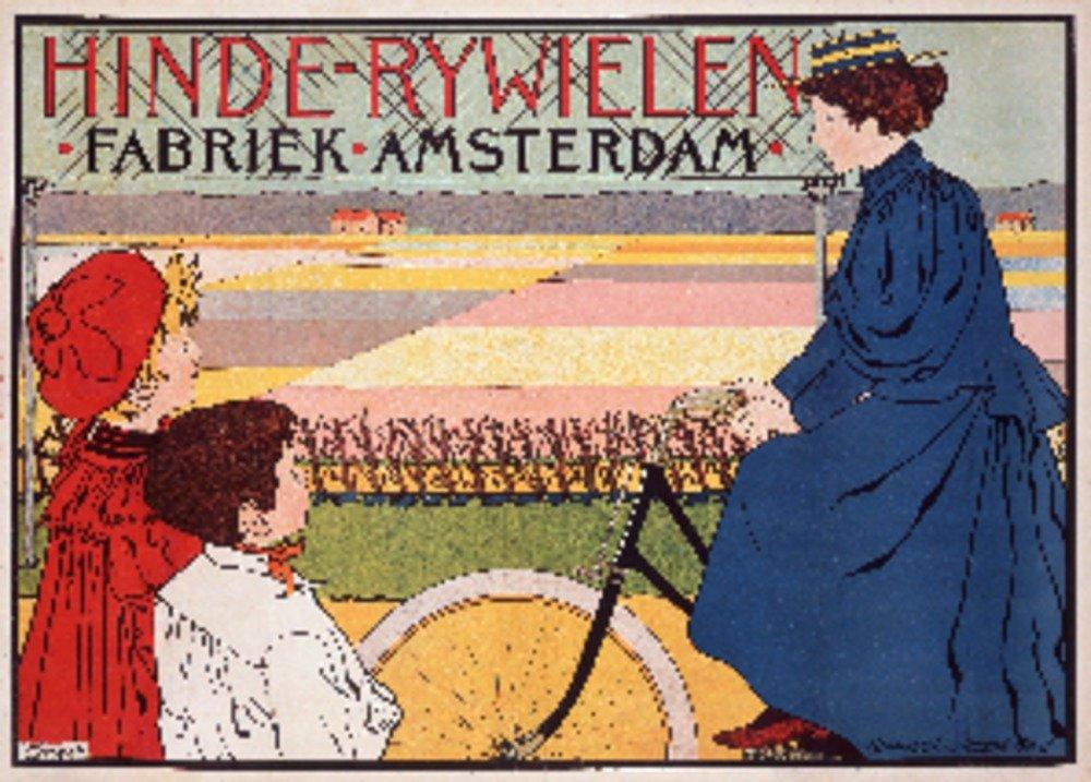 hinde-rywielenヴィンテージポスター(アーティストvan Caspel )オランダC。1896 36 x 54 Giclee Print LANT-74888-36x54 36 x 54 Giclee Print  B01MPVS918