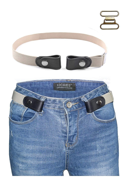 JMITHA Cintura senza fibbia Cintura donna uomo jeans cintura pantaloni cintura elastica invisibile regolabile