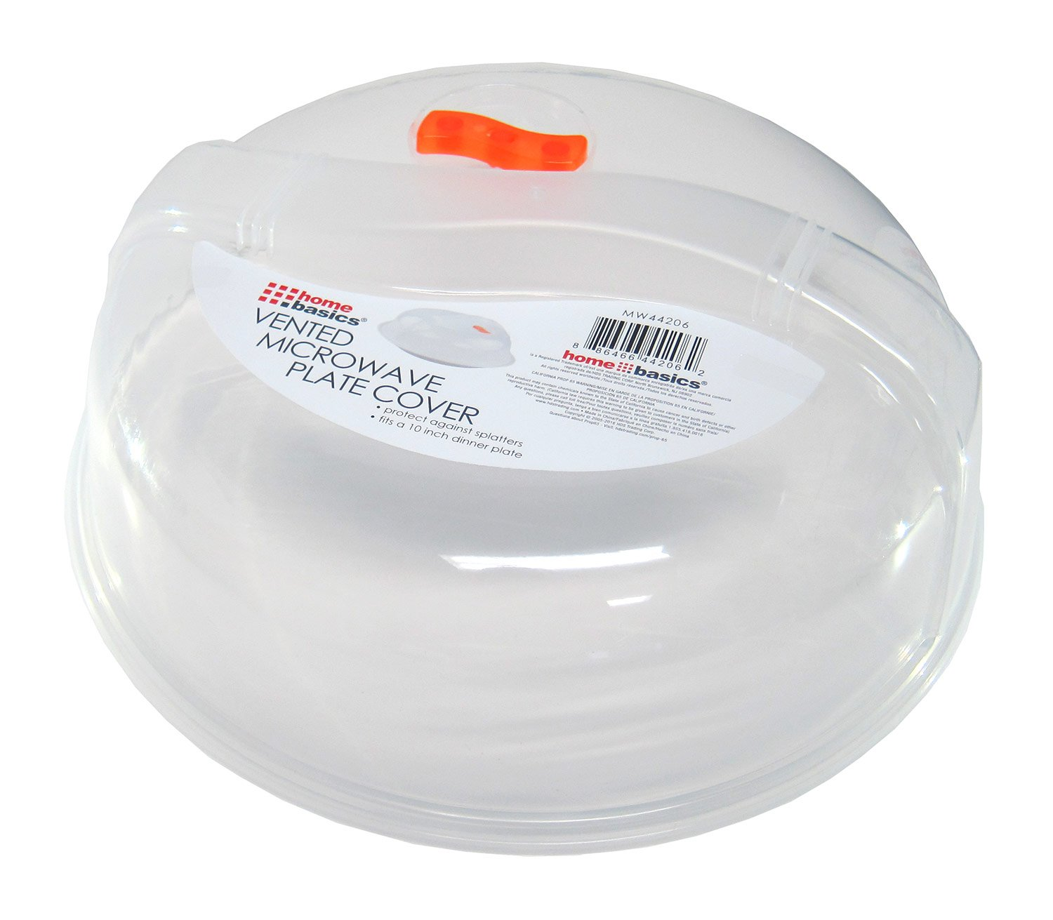 Fits 10 Inch Plate Home Basics Microwave Plate Cover With Air Vent