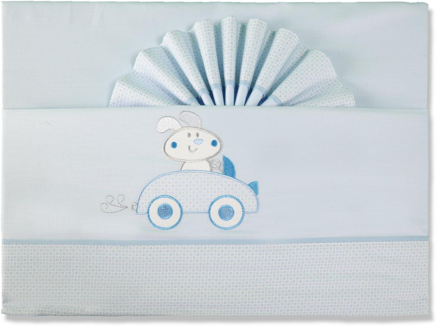 pekitas Parure de lit fines 3/pi/èces pour berceau 60/X 120/100/% coton fait au Portugal Ourson-bleu