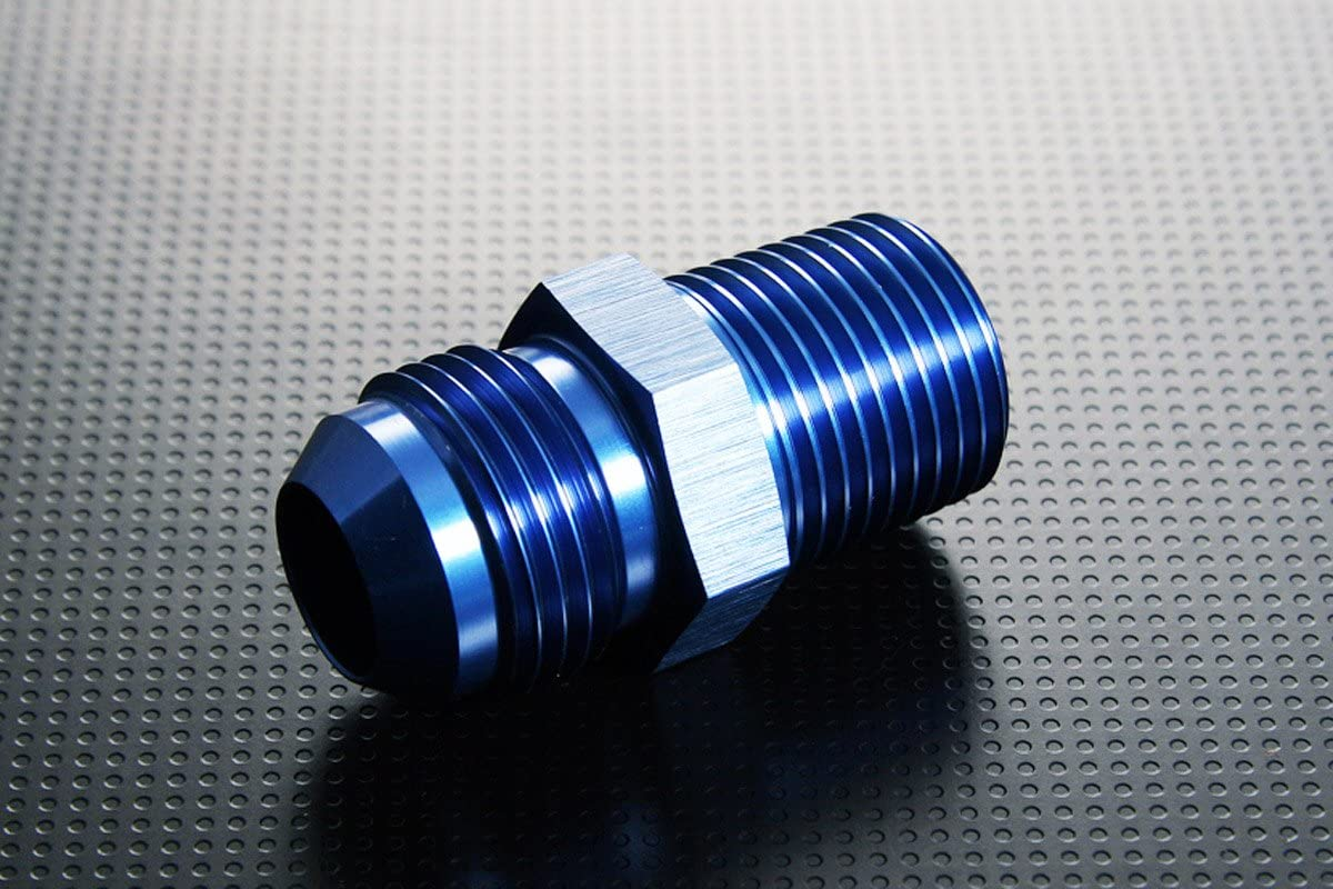 Male Flare to Metric Thread Straight Union Aluminum Fitting Adapter AN10-10AN AN-10 to M14 x 1.5