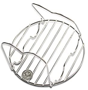Steamer Rack Trivet For Use With Electric Pressure Cookers Like Instant Pot 6QT and up And More