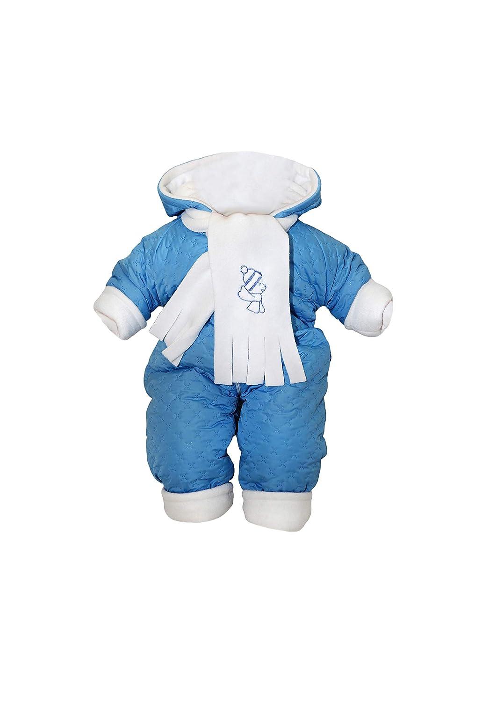 garçons Combinaison de ski thermoanzug avec capuche matelassé hiver bleu KJ1