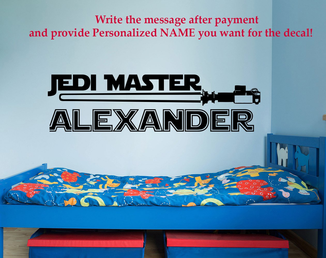 Amazon Jedi Master Name Decal Star Wars Decal Quote Vinyl Wall