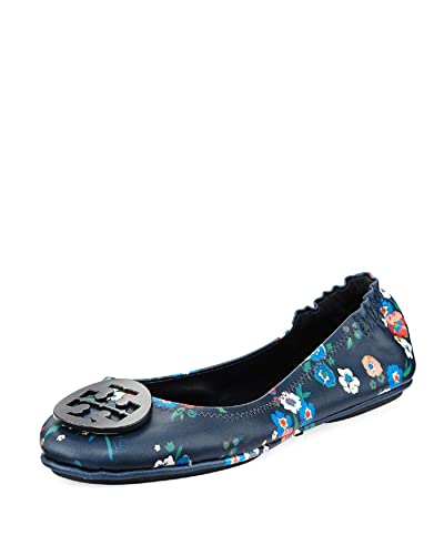 Tory Burch Minnie Travel Floral Print Lether Ballet Flat Size 8