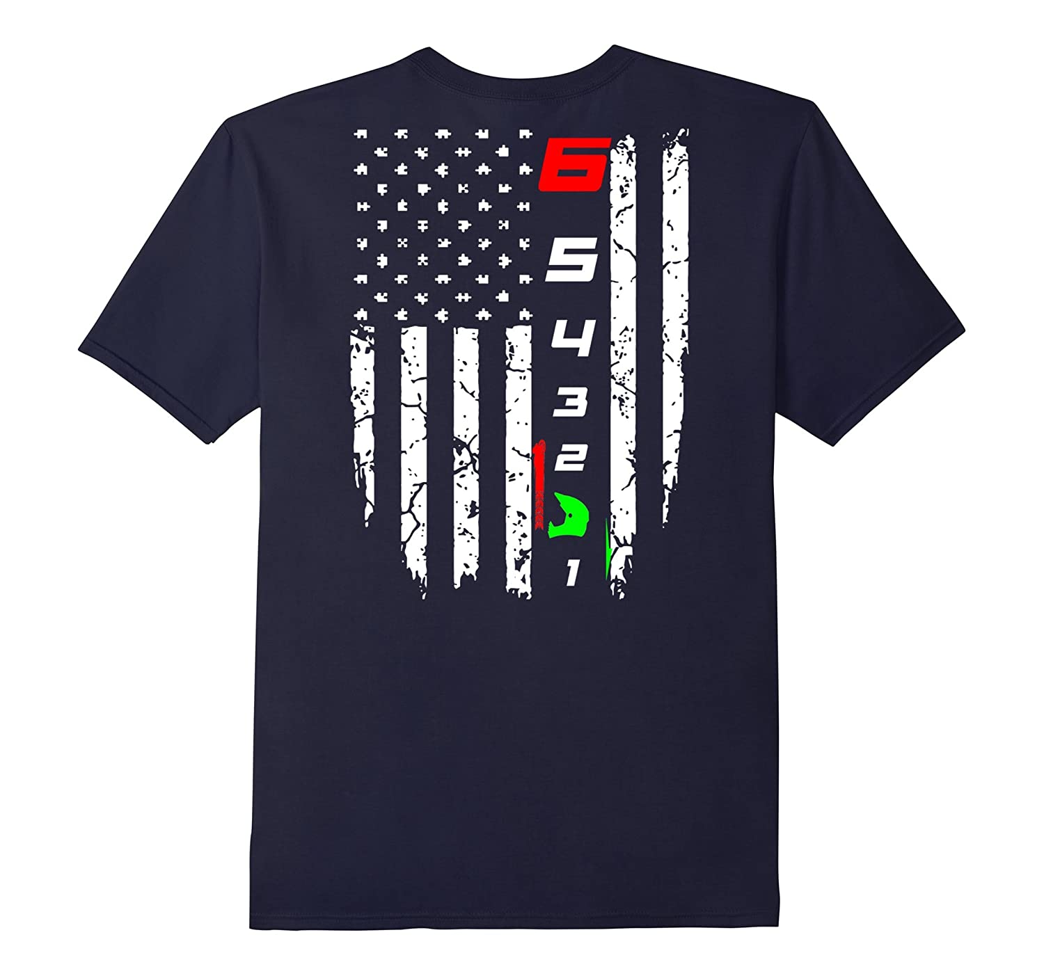 1 Down 5 Up T Shirt flag motorcycle shirt-Vaci