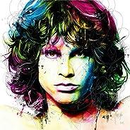 Jim Morrison - Cuadro decorativo de pared para recámara, sala de estar, pinturas al óleo, Contemporáneo, 20x20 inch