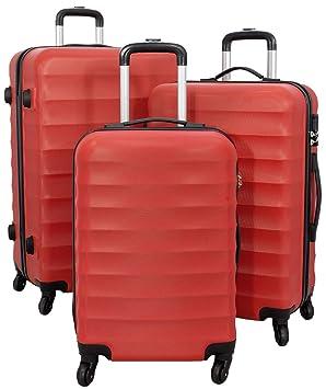 9053b3b48 Monopol Juego de maletas rojo rojo M,L,XL: Amazon.es: Equipaje