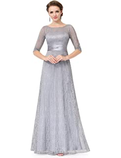 952c3743c0d9 Ever-Pretty Womens A-Line Formal Slim Maxi Lace Bridesmaids Dress with  Sleeve 08878