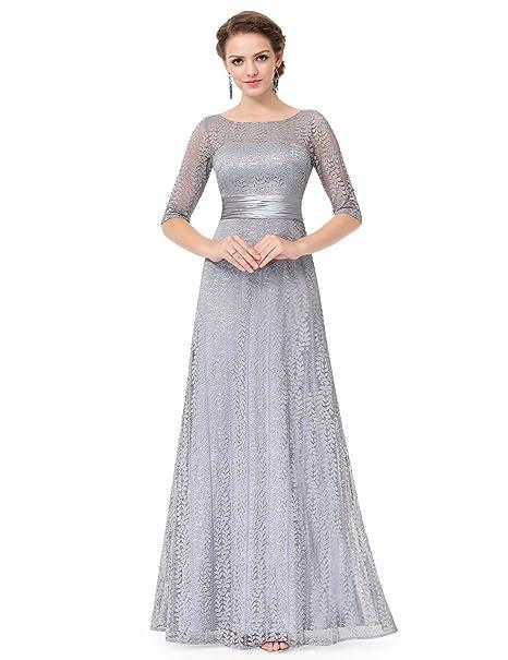 Ever Pretty 08878 - Vestido de fiesta para mujer, elegante, de encaje, media