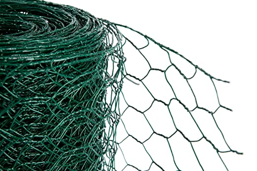 PVC Green chicken Wire 50mm x 1200mm high x 25m (536): Amazon.co.uk ...