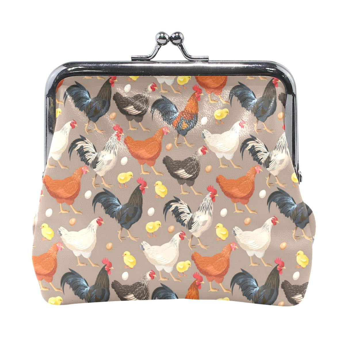 Amazon.com: Monedero con diseño de campesino y gallina de ...