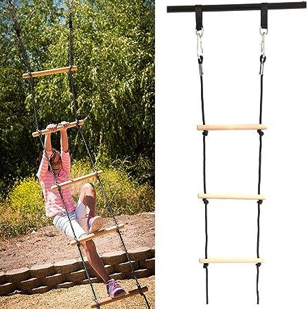 Niños Cuerda de escalada Gimnasia Columpio para juegos de columpios al aire libre Escalera Columpio Juguete divertido Equipo de juego activo al aire libre Juegos de patio trasero transferibles: Amazon.es: Hogar