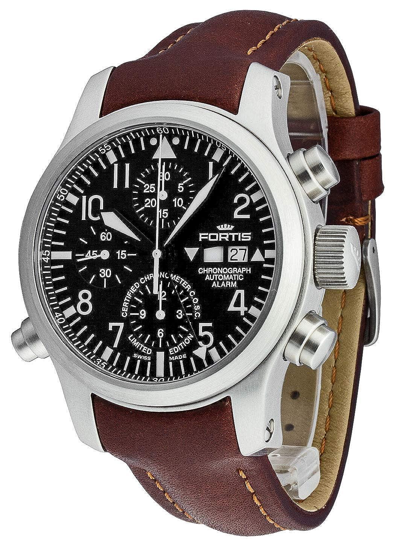 Fortis - Reloj de Pulsera para Hombre con Alarma de cronógrafo B-42 - edición Limitada - COSC analógico automático 657.10.11 L.18: Amazon.es: Relojes
