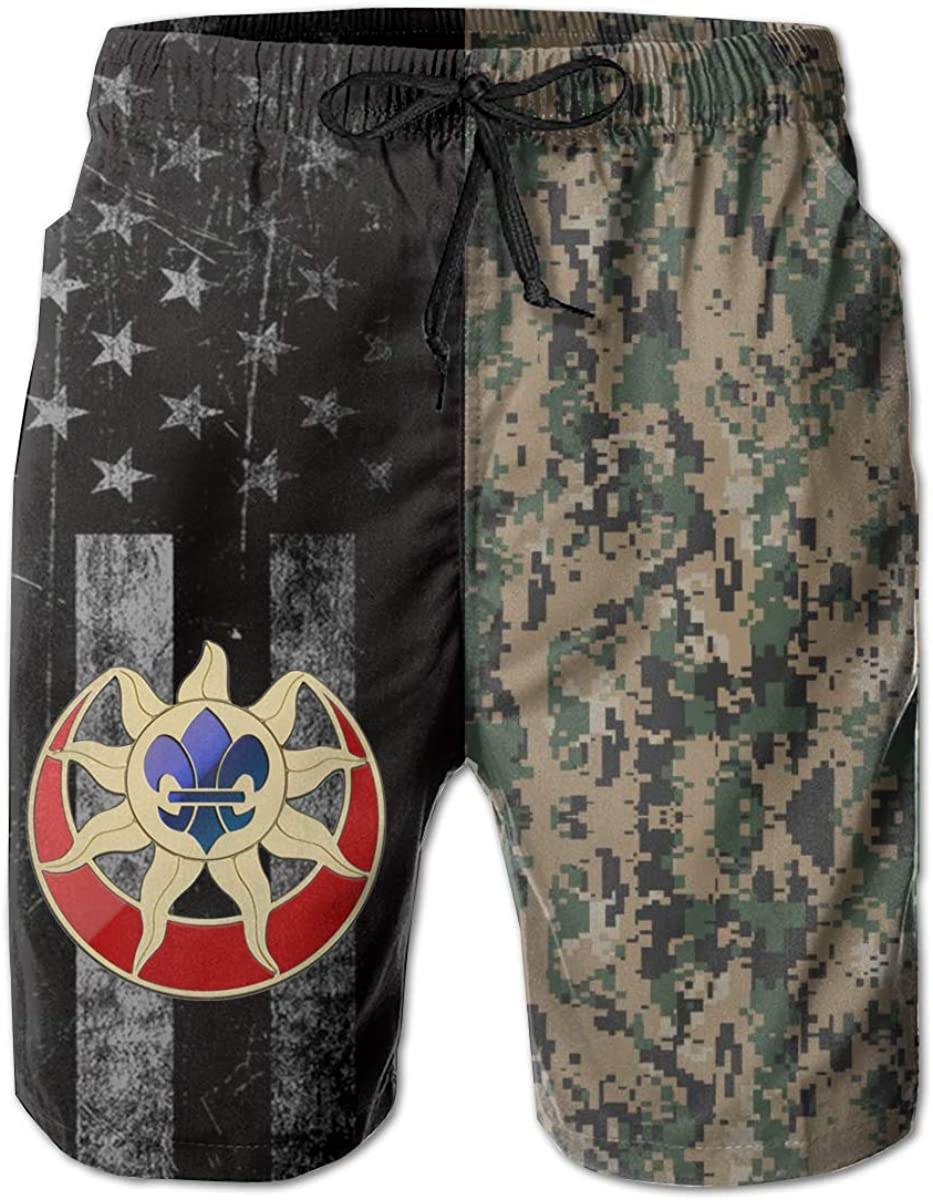 9th Infantry Division Insignia Mens Swim Trunks Beach Short Board Shorts