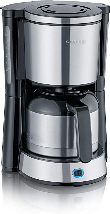 Severin KA 4846 - Cafetera, 1000 W, acero inoxidable, tapa de ...