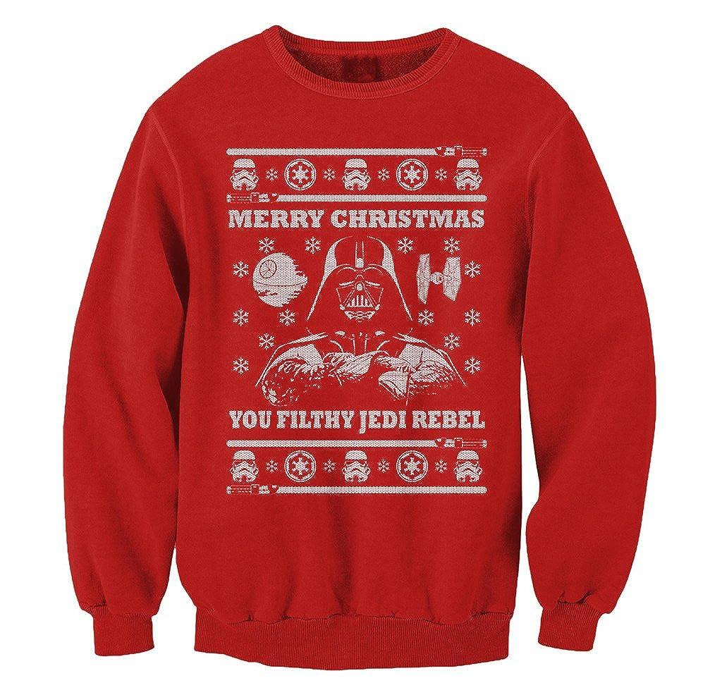 FreshRags Star Wars Parody Vader Ugly Christmas Sweater Sweatshirt VXMASSBLK-$P
