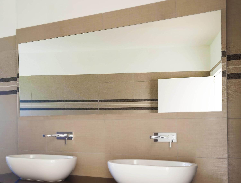 Spiegelwerk Kristallspiegel 4mm Badspiegel nach Wunschmass - B  120 cm x H  90 cm