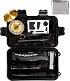 Survival Kit, Global Tactical Gear 11 in 1 Emergency Kit with FREE eBooks - Heavy Duty Professional Knife, Flashlight and Emergency Blanket, Essential Gear for Camping, Hiking, Preparedness and Scouts