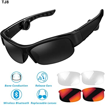 Bone Conduction Bluetooth 4.1 Headphones Polarized Sunglasses Myopia ...