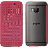 HTC One M9 Dot View Ice Premium Cover with Clear Back - Pink