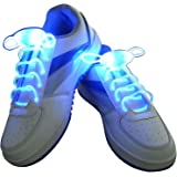LED Light-up Pair of Party Shoe Laces Full Flashing Dancing Design * 11 Colours * - SG-UK