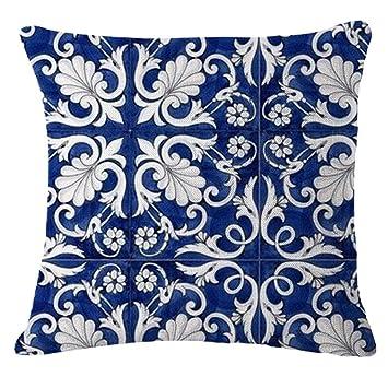 Nunubee Kissenbezug Chinesisches Blaues Und Weisses Porzellan Stil