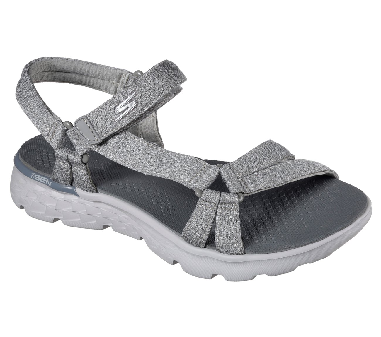 Skechers Women's On the GO 400 Bouncy Sandal,Gray,US 5 M by Skechers
