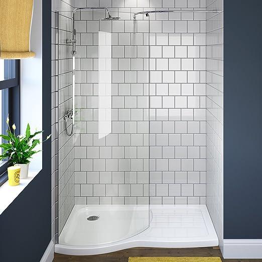 iBathUK | moderna sala de Wet Mampara de baño (Cristal), Curved ...