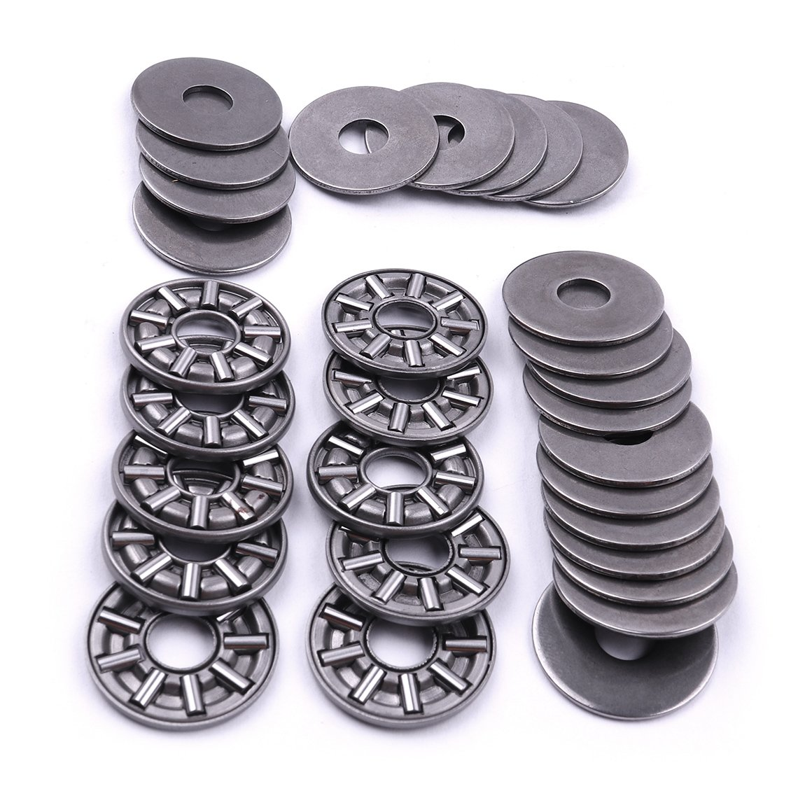 ATOPLEE AXK0819 2AS Thrust Needle Roller Bearings 1pc Cage Needle 2pcs Washers 8x19mm 10pcs