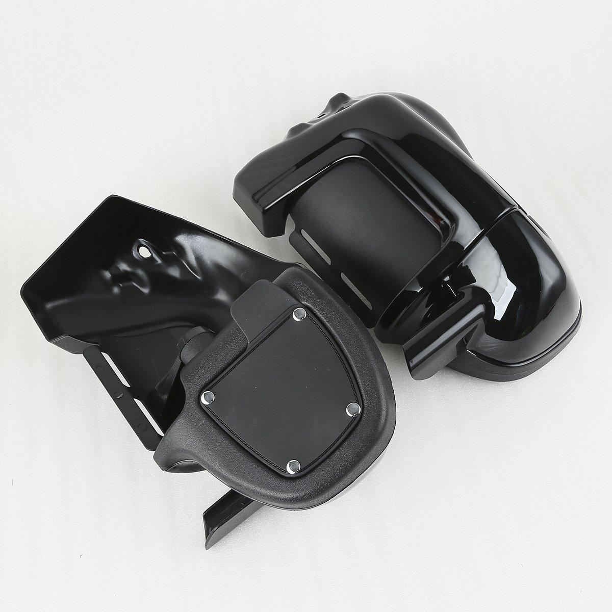 XMT-MOTO Black Lower Vented Leg Fairings Cap Glove Box For Harley-Davidson Touring Models 1983-2013 by XMT-MOTO (Image #4)