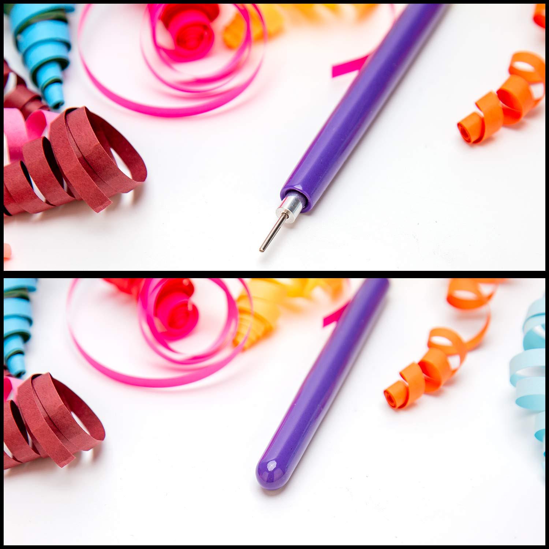 4 PCS Colores de caramelo Pluma de la aguja de Quilling para hacer arte de bricolaje artesanal AIEX 5 en 1 Herramientas de Quilling ranuradas Herramientas de Quilling multifuncionales 9 PCS