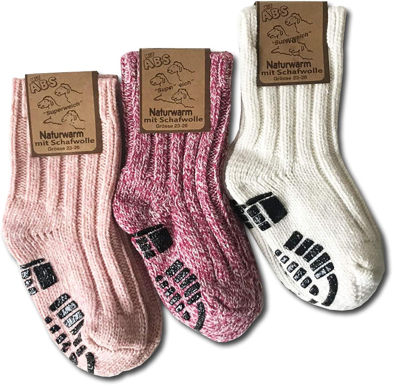 your 3 pares de calcetines de invierno c/álidos calcetines casa 40/% lana ABS Calcetines noruegos para ni/ños
