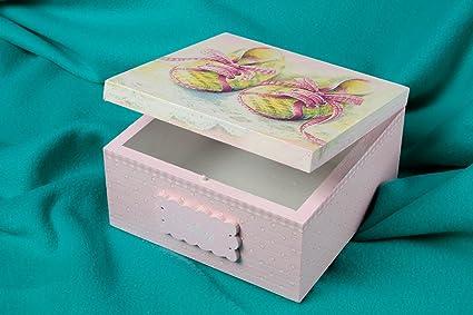 Caja para joyas artesanal para casa accesorio para mujer regalo original