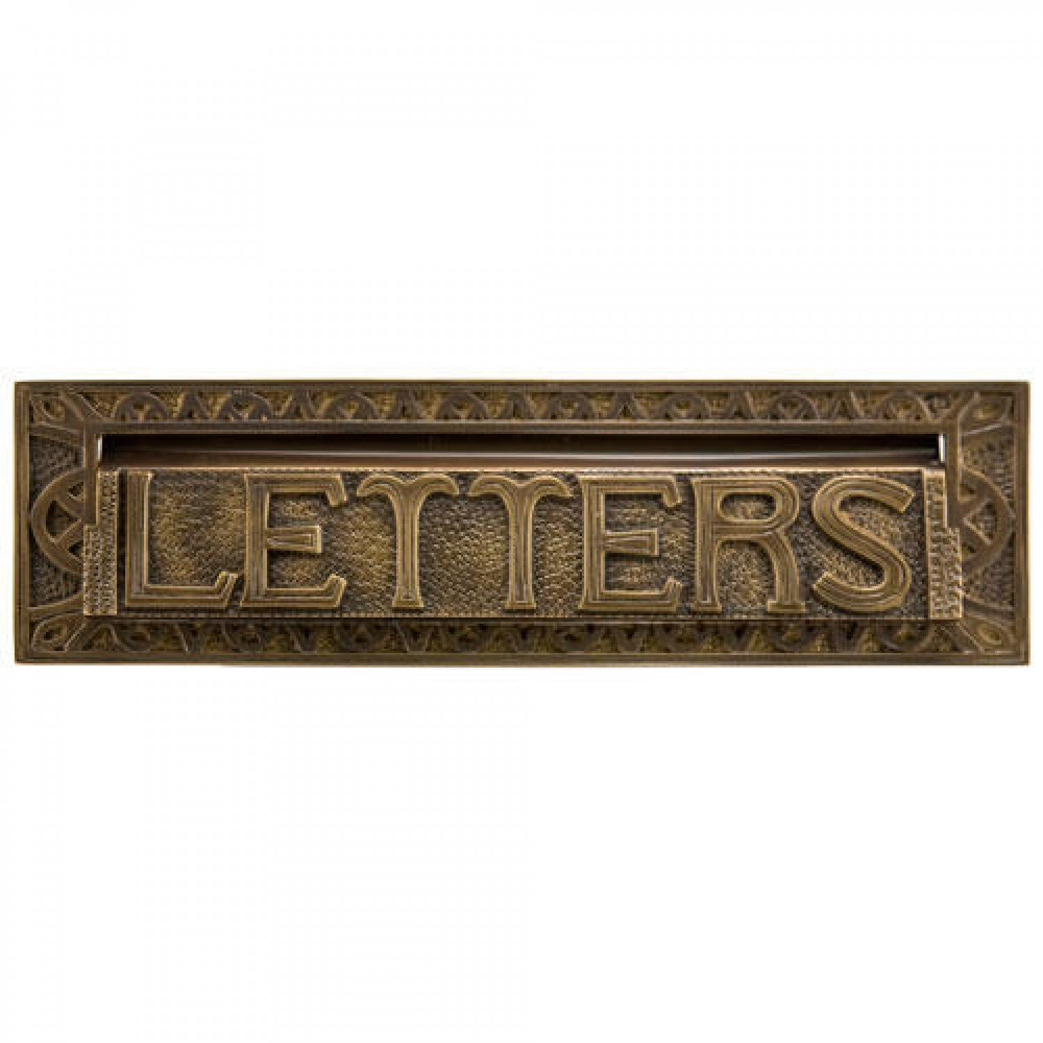 Naiture 13'' Heavy Duty''Letters'' Mail Slot in Antique Brass by SH (Image #1)