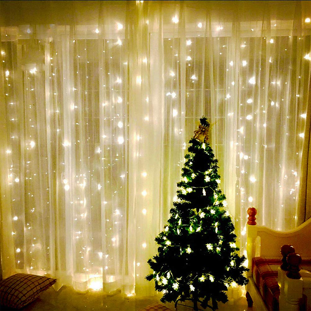 Details About Jesled Led Window Curtain Lights 1000 Leds Icicle String Lights For Wedding