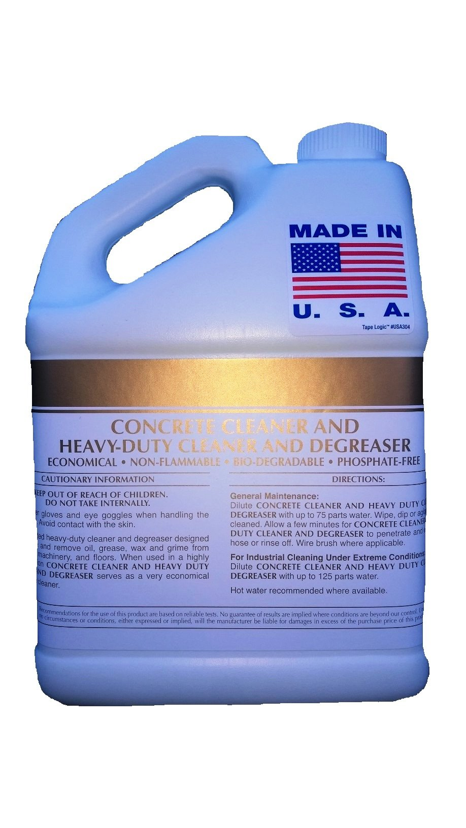 Patriot Chemical Sales Four 1 Gallon Concrete Cleaner Degreaser Heavy-duty Industrial Strength Concentrate