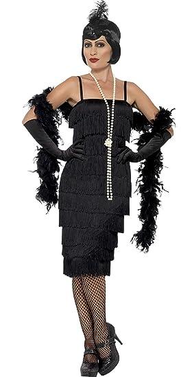 Fasching Fete Charleston Flapper Disfraz Para Mujer, 2 x l, negro ...