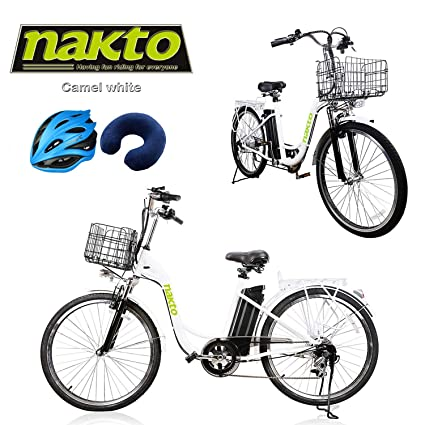 dfc2c87c40c NAKTO Electric Bicycle Beach Snow Fat Tire Bicycle Fat Tire ebike  250W/300W/500W 36V/10AH/48V/12AH Electric Mountain Bicycle with Shimano 6  Speeds Lithium ...