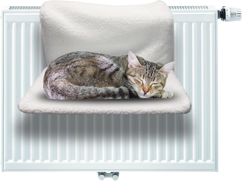 ASAB Cama de radiador Plegable para Gatos, Hamaca Mascotas | Tumbona Colgante de Forro Polar cálido para Gatitos y Perros pequeños: Amazon.es: Productos para mascotas