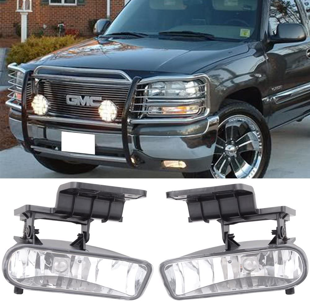 Fits 2001-2002 Chevrolet Silverado 1500 HD Clear OE//Replacement Fog Light