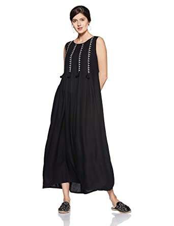 bf586b6fe7abd global desi Women's A-Line Maxi Dress: Amazon.in: Clothing & Accessories