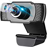 IVSO Webcam with Microphone,Full HD 1080P 110-Degree Wide View Angle Webcam, USB Camera Noise Reduction Manual Focus…