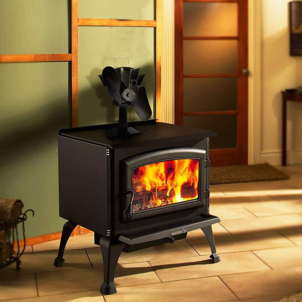E-More - Ventilador para estufa, alimentado por calor, alimentado por calor, para leña, quemador de tronas, circulación de calor respetuosa con el medio ...