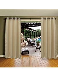 Cross Land Outdoor Curtains UV Protection Thermal Insulated For Patio,garden